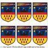 TRANSYLVANIA Shield Romania Mobile Cell Phone Mini Decals Stickers x6