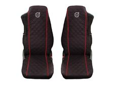Volvo FH4 , FL , FE after 2014 Truck Seat Covers 2 piece RED PIPING