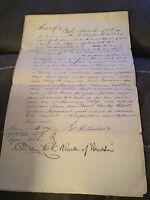 1839 Handwritten Letter Hiram M Donald Hudson Columbia NY New York Livingston
