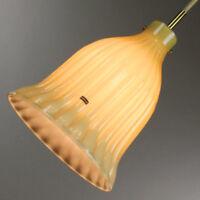 Hollywood Regency Pendant Leuchte Doria Glas 60er 70er Jahre Lampe Neuw. vintage