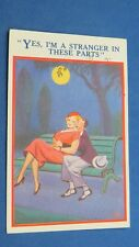 Risque Comic Postcard 1939 Large Boobs Nylons Stockings Theme