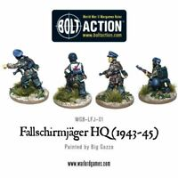 Fallschirmjager HQ Headquarters 1943-45 Army Bolt Action Warlord Games Model New