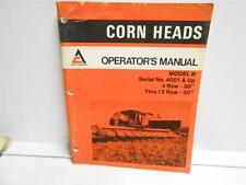 "ALLIS-CHALMERS CORN HEADS MODEL N (4001 & UP) 4 ROW-36"" THRU 12 ROW-30"""