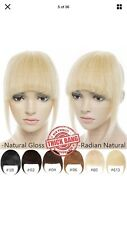 100% Soft Front Bangs Fringe Clip In Remy Human Hair Real Hairpiece Extensions