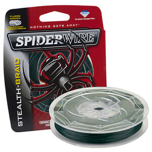 Spiderwire Stealth Braid Fishing Line 20 Pound 200 Yard Moss Green 1374599