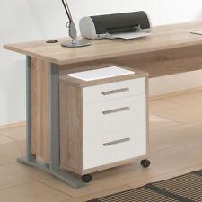 Office Line Rollcontainer Eiche Dekor Weiß B40 H57 T40 Schrank Regal für Büro