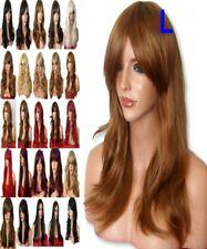 Auburn Jengibre Moda Medio Real Natural Recto para Mujer Adulto Ondulado Pelucas De Cabello