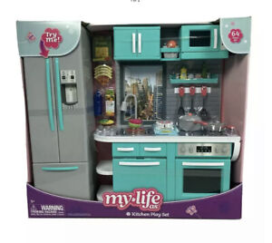 "NEW My Life As Kitchen Play Set for 18"" Posable Dolls 64 Piece Set"