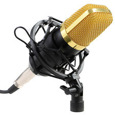 COSTWAY Professional Audio Condenser Mic Microphone Studio Sound w/ Shock Mount