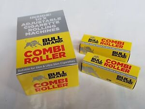 BULL BRAND COMBI Cigarette Rolling Machine Plastic Roller Rolls ULTRA SLIM &SLIM