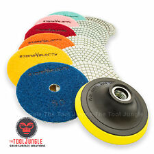 Diamond Polishing Pads 3 inch Wet/Dry 15 Piece Set Granite Marble Concrete Stone