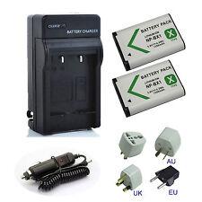 2x NP-BX1 Battery + Charger for Sony DSC- RX1 DSC-RX100 HX50V HX60V WX500 HX400