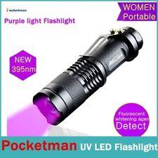 LED Ultra Violet UV 395 nM Blacklight Flashlight Inspection Lamp Torch Light