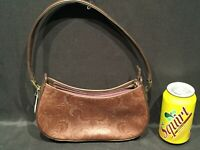 Liz Claiborne Brown Handbag Purse Tooled Polyvinyl Western Bag NWT New w Tags