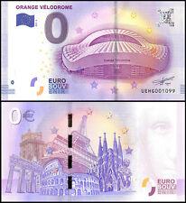 Zero (0) Euro Europe, 2017 - 2 (2nd Print), UNC, Orange Velodrome in France