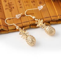 Hot Fashion Gold Pineapple Stud Earring Women Fruit Dangle Hook Earrings Jewelry