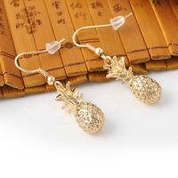 Hot Fashion Gold Pineapple Stud Earring Women Fruit Dangle Hook Earrings Jewelry