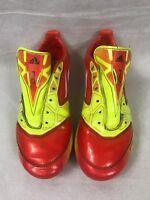Adidas F50 V24794 AdiZero Soccer Cleats Male boys 5 orange/yellow bright Used