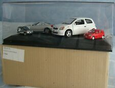 Exclusiv Cars TOYOTA Celica Yaris Vitz 4´er Set Vitrine Made in Germany RARITÄT