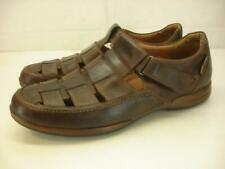 Men's 11 M Mephisto Rafael Fisherman Sandals Brown Leather Shoes Air-Jet Comfort