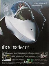 9/2001 PUB LOCKHEED MARTIN JSF JOINT STRIKE FIGHTER X-35 ORIGINAL AD