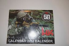 HECKLER & KOCH HK 50TH ANNIVERSARY MP5 2014 COLLECTORS EDITION CALENDAR MR556 P7