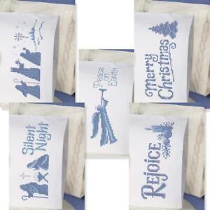 Herrschners® O Holy Night Pillowcase Stamped Cross-Stitch