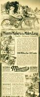 Advertising Miami Power Bicycle Motorcycle Middletown Ohio Safe Silent 1915