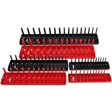 """6pcs Abs Socket Organizer Holder Storage Tray Rack Sae Metric 1/4"""" 3/8"""" 1/2"""" Set"""
