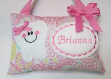 Tooth Fairy Pillow Personalized Pink Waverly, Easter Basket Stuffer