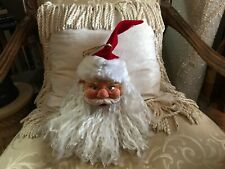 """12"""" Santa Claus Ornament Large with Long Beard and Pole Feature"""