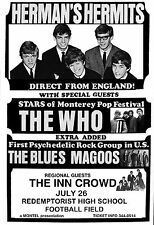 Who - Herman's Hermits - Blues Magoos Concert Poster original*