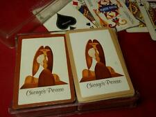 """vtg 2 Decks """"Chicago's Picasso"""" Playing Cards Whitman (some missing & damaged)"""