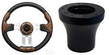 Yamaha Aviator 5 Golf Cart Steering Wheel Kit (Woodgrain)