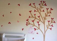 Fabric Birds & Birdhouses Wall Stickers