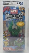 2006 BATTLE DICE LAUNCHER HULK GAME AFA GRADED 8.0 PLAYMATES MARVEL HEROES MOC !