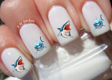 Sharks Nail Art Stickers Transfers Decals Set of 54