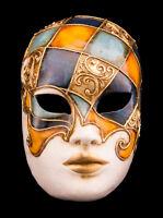 Maschera Di Venezia Viso Blu IN Carta Pesta -creazione artisanale-2153 - E9