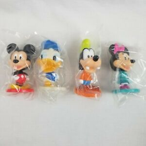 "Disney Kelloggs Mickey Minnie Goofy Donald 3"" Bobble Head Figurine Promo"