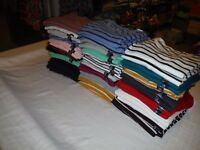 Long Sleeve Crewneck T-Shirts GAP Favorite Favori 2XL,XL,L,M,S, Multi Color NW