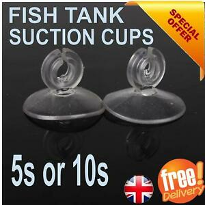 Aquarium Fish Tank Suction Cups Suckers Clips Pads Air Line Pump Tube Holder UK