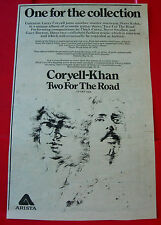 """Larry Coryell Steve Khan Two For The Road Vintage ORIG Press/Mag ADVERT 6.5""""x5.5"""