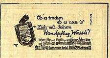 Carl Flügge Berlin HANDPFLUG WASSIS Historische Reklame von 1921