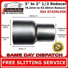 "3"" to 2.5"" Stainless Steel Standard Exhaust Reducer Connector Pipe Tube"