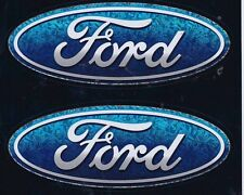 Ford Oval Logo Racing Decal Sticker sheet of 2 Holographix Vinyl