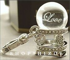 AUTHENTIC JUICY COUTURE 2011 PAVE LOVE FORTUNE BALL CHARM FREE SHIPPING NIB