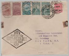 1931 Brazil DOX First Flight Cover to USA