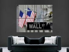 WALL STREET NEW YORK STOCK EXCHANGE  WALL POSTER ART PICTURE PRINT LARGE  HUGE