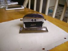 Lovely vintage Art Deco chrome perpetual calendar Made in England,complete.