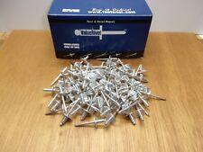 Qty100 Marson Large Flange 316 X 14 All Aluminum Blind Pop Rivet Dome Head